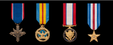 Army Miniature Military Medals in order of precedence