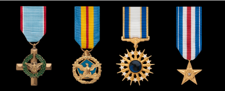 Air Force Miniature Military Medals in order of precedence