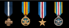 Coast Guard Miniature Military Medals in order of precedence