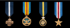 Marine Corps Miniature Military Medals in order of precedence