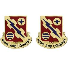 265th ADA (Air Defense Artillery) Regiment Unit Crest (Home and Country)