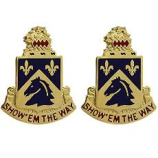 102nd (117th) Cavalry Regiment Unit Crest (Show 'Em the Way)