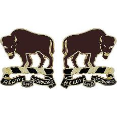 10th Cavalry Regiment Unit Crest (Ready and Forward)