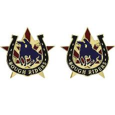 118th Cavalry Regiment Unit Crest (Rough Riders)