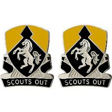 153rd Cavalry Regiment Unit Crest (Scouts Out)
