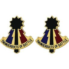 194th Armored Brigade Unit Crest (Thunderbolts of Battle)