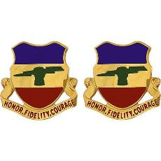 73rd Cavalry Regiment Unit Crest (Honor, Fidelity, Courage)