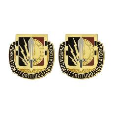 Special Troops Battalion, 2nd Brigade, 1st Cavalry Division Unit Crest (Perstatum Fortitudo Bellatoris)