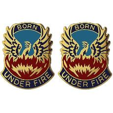 128th Aviation Brigade Unit Crest (Born Under Fire)