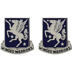 228th Aviation Regiment Unit Crest (Winged Warriors)