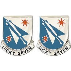 7th Aviation Battalion Unit Crest (Lucky Seven)