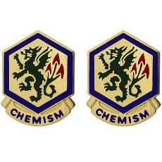 415th Chemical Brigade Unit Crest (Chemism)