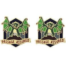 420th Chemical Battalion Unit Crest (Passage Assured)