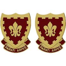 117th Field Artillery Regiment Unit Crest (Parati Armis)