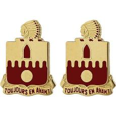 160th Field Artillery Regiment Unit Crest (Toujours En Avant)