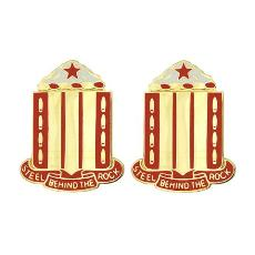 38th Field Artillery Regiment Unit Crest (Steel Behind the Rock)