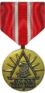 merchant marine atlantic war zone full size military medal