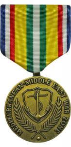 merchant marine mediterranean middle east war zone military medal