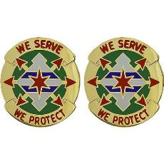 33rd Military Police Battalion Unit Crest (We Serve We Protect)