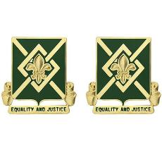384th Military Police Battalion Unit Crest (Equality and Justice)