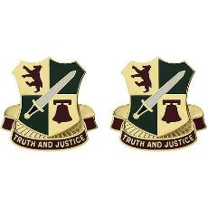 393rd Military Police Battalion Unit Crest (Truth and Justice)