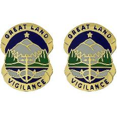 Alaska National Guard Unit Crest (Great Land Vigilance)