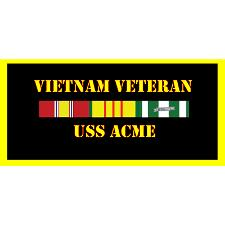 USS Acme Vietnam Veteran License Plate