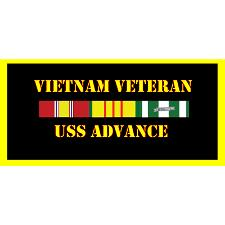 USS Advance Vietnam Veteran License Plate