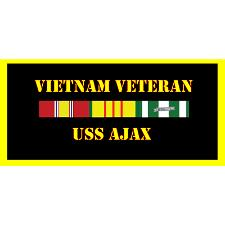 USS Ajax Vietnam Veteran License Plate