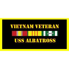 USS Albatross Vietnam Veteran License Plate