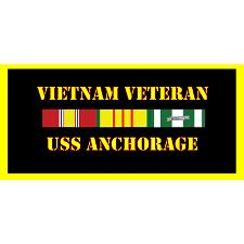 USS Anchorage Vietnam Veteran License Plate