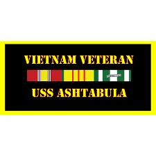 USS Ashtabula Vietnam Veteran License Plate