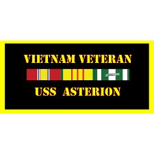 USS Asterion Vietnam Veteran License Plate