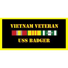 USS Badger Vietnam Veteran License Plate