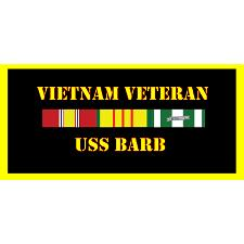 USS Barb Vietnam Veteran License Plate