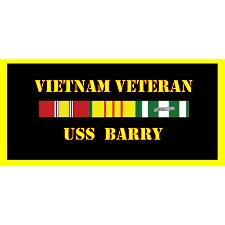 USS Barry Vietnam Veteran License Plate