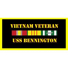 USS Bennington Vietnam Veteran License Plate