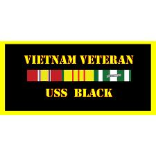 USS Black Vietnam Veteran License Plate
