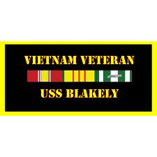 USS Blakely Vietnam Veteran License Plate
