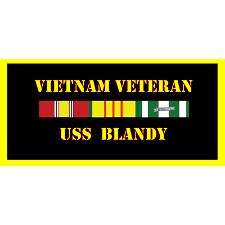USS Blandy Vietnam Veteran License Plate