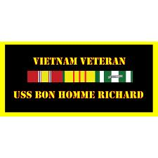 USS Bonne Homme Richard Vietnam Veteran License Plate
