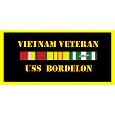 USS Bordelon Vietnam Veteran License Plate