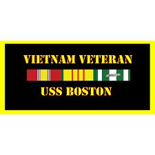 USS Boston Vietnam Veteran License Plate