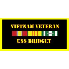USS bridget Vietnam Veteran License Plate