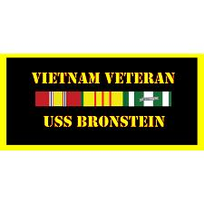 USS bronstein Vietnam Veteran License Plate