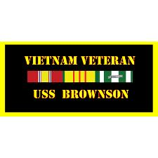 USS brownxon Vietnam Veteran License Plate