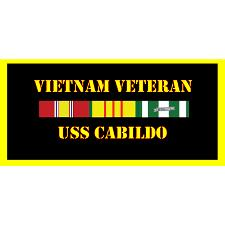 USS Calibdo Vietnam Veteran License Plate