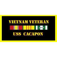 USS Cacapon Vietnam Veteran License Plate