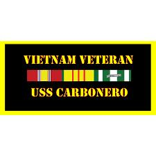 USS Carbarno Vietnam Veteran License Plate