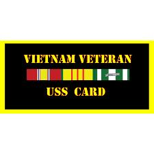 USS Card Vietnam Veteran License Plate